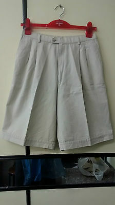 Oscar Jacobson Women Golf Short Trousers Beige Size 14 Waist 29""