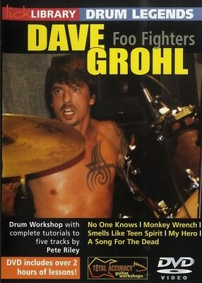 Dave Grohl Foo Fighters Lick Library Drum Legends Dvd Learn To Play 5 Songs!