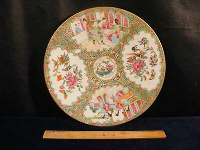 """Antique Chinese Export Rose Medallion 12"""" Chop Plate / Charger"""