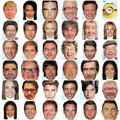OFFICIAL Celebrity Face Party Masks Fancy Dress Birthday Mask Fun Stag Hen Do