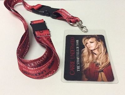 Carrie Underwood The Storyteller Tour 2016 VIP Pass Badge Carrie Underwood