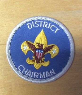 Boy Scouts District Chairman Patch  Never Used