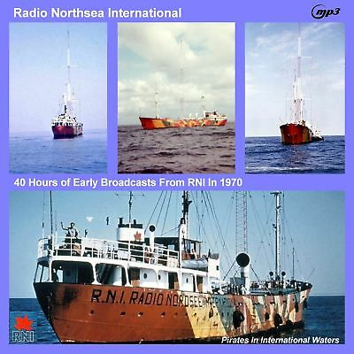Pirate Radio - RNI 1970 Over 40 hours of broadcasts on MP3 DVD Disc