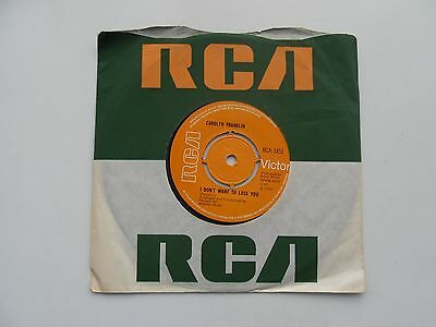 "Carolyn Franklin 7"" vinyl single 'I Don't Want to Lose You / Boxer' 1969"