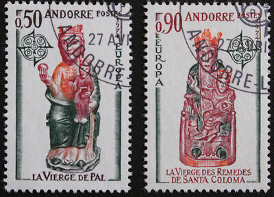 Andorra (French) 1974 Europa, Church Sculptures Set SGF256/7 Used cat value £29