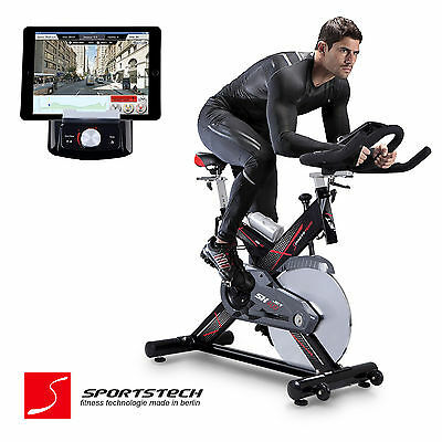 Premium Indoor Cycling mit Smartphone APP / Spin Speed Bike Fitness Cycle SX400
