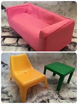 Ikea Huset Dolls Furniture Suitable for Barbie/Fashion Dolls * Great Condition