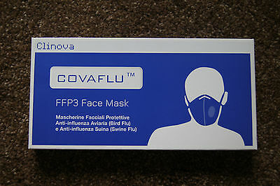 200 FFP3 HEALTH MASKS INDIVIDUALLY SEALED X 200 units CLINOVA UK FFP3
