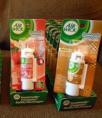 20 Air Wick Freshmatic Compact Spray 2 different  fragranc Refills