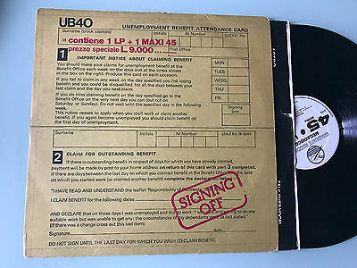"LP + 12""  ITALY UB40 ‎– Signing Off"