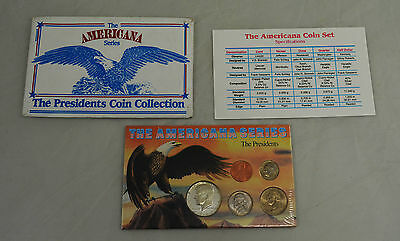 The Americana Series Presidents Coin Collection USA Proof. Kennedy, Lincoln etc.
