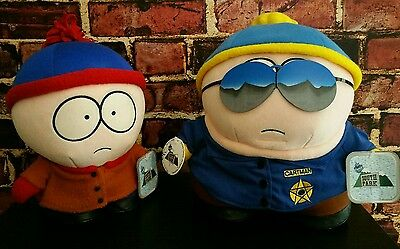 Comedy Central South Park Eric Cartman/Police Cop and Stan Marsh Plush w/ TAGS