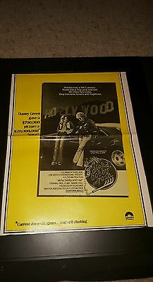 Aloha, Bobby And Rose Rare Original Box Office Promo Poster Ad Framed! #2