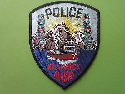 Collectible Alaska Police Patch Klawok New