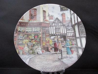 Excellent Condition Royal Doulton Collectors Plate The Flower Shop with COA