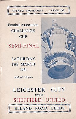 LEICESTER CITY v SHEFFIELD UNITED 1961 FA CUP SEMI-FINAL,FIRST GAME