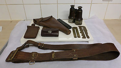 World War 1 Hathaway 1916 Sam Browne, 1916 Leather Holster And Extras