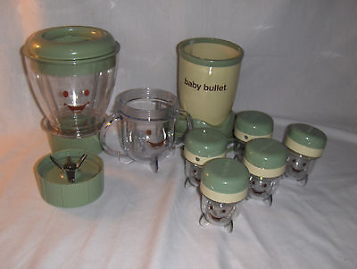 Magic Baby Bullet Food Processor Prep System Blender Date Storage Cups Blades