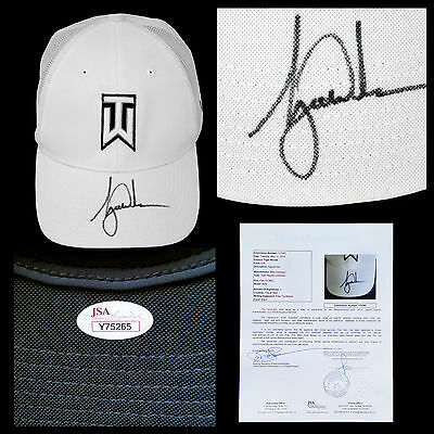 Tiger Woods Signed Golf Hat Autograph JSA Letter of Authenticity Nike TW Logo