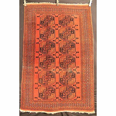 Alter Handgeknüpfter Orient Teppich Old Afghan Art Deco Old Rug Carpet 185x120cm