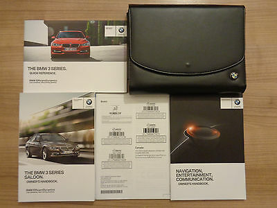 BMW 3 Series Saloon Owners Handbook/Manual and Wallet 12-16