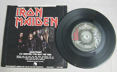 """Iron Maiden - """"sanctuary"""" - Censored Thatcher Sleeve - Lovely Mint Player/nm"""