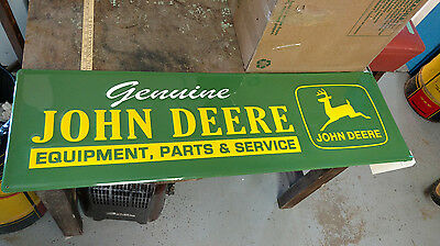 Large John Deere Tractor Implement Parts Service  Metal Aluminum Embossed Sign