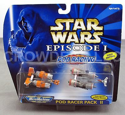 Star Wars Episode 1 Pod Racer Pack II Micro Machines Rare 1st Edition NiB Galoob