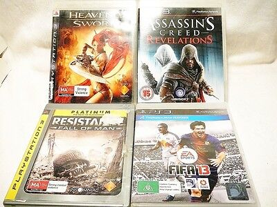 """Ps3 Bulk Pack, 4 X Assorted Games """"preowned"""" Auz Seller Gp04"""