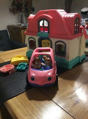 Fisher Price Little People House And Car