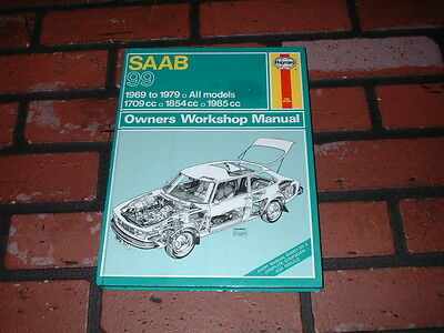 Haynes Manual For Saab 99 Models. 1969 To 1979. Coupe & Turbo.
