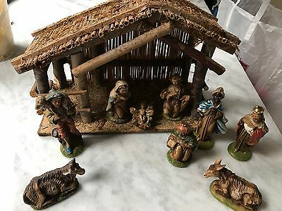 Nativity Set and Stable Made in Italy Creche nativity Scene 9 Figures