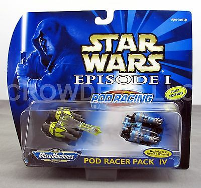 Star Wars Episode 1 Micro Machines Pod Racer Pack IV Rare 1st Edition '99 Galoob
