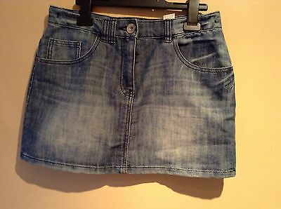 Girls Short Denim Blue Skirt Age 13 Years By NEXT