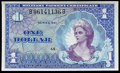 Series 661 $1 One Dollar Mpc Military Payment Certificate Gem Uncirculated