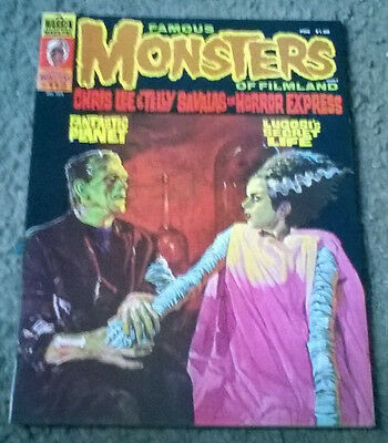 famous monsters of filmland #112,dec 1974,vf+ grade,bagged & boarded