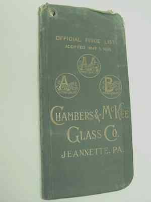 Book: 1895 Chambers & Mckee Glass Co. Jeanette, Pennsylvania; Official Price Lst