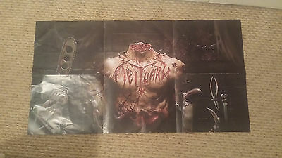 Obituary Inked In Blood Signed Promo Poster Kickstarter Deathcrusher 2015 promo