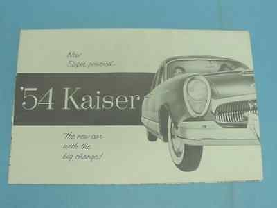 Brochure (Poster): 1954 Kaiser Automobile