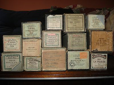 pianola rolls - 19 various classical - see list details