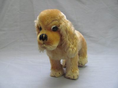 "Steiff Original Cocker Spaniel Dog 9"" Vintage Plush Antique W/ Button & Tag"