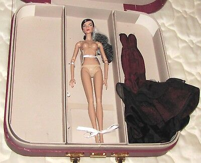 Fashion Royalty.elyse J'adore La Fete + Valise.nude Doll &carrying Case.gift Set
