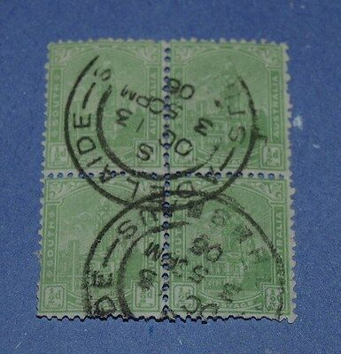block of 4 early south austrailia stamps
