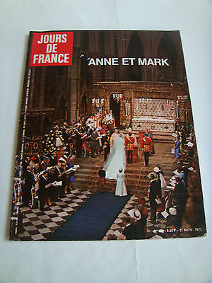 Original Jours De France Number 988 27 November 1973 'anne Et Mark'