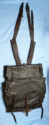 Rare Genuine Us Cw Union Army Soldier's Knapsack - Ny Maker/inspector Marked