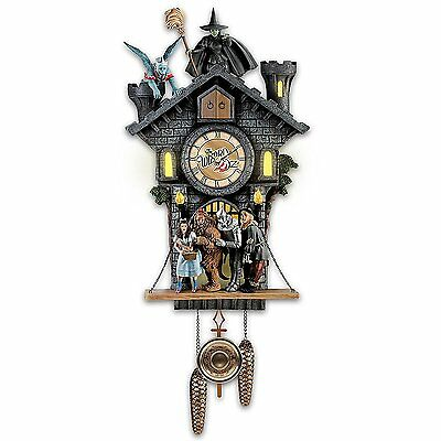 """""""wizard of Oz""""Wall Clock, Barking Toto Lights Sounds one-of-a-kind 75th anniver"""
