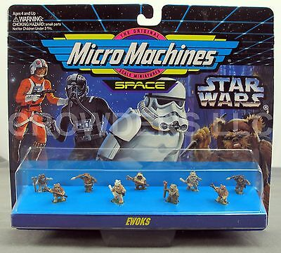 Micro Machines Space: Star Wars Ewoks 9 Figure Collection 1994 Galoob NiB #66080