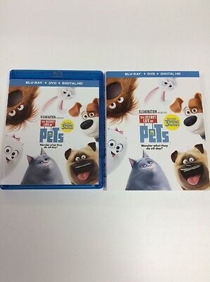 The Secret Life of Pets (Blu-ray + Digital) Read Description NO DVD, Like New!