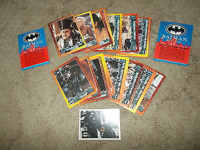 Topps Batman Collectable Cards (1992) (20 Cards) & 1 Batman Topps Sticker