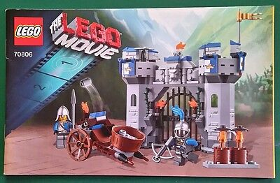 LEGO instructions only. THE MOVIE 70806 Castle cavalry set. New